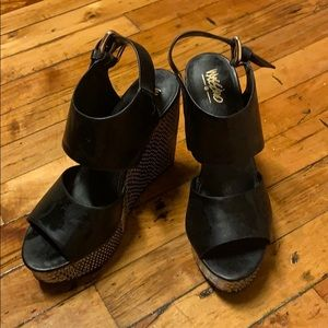Black Mossimo Wedges From Target Sz. 7
